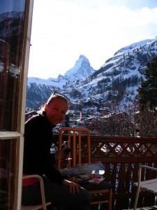 Jane Jenkins at the Matterhorn